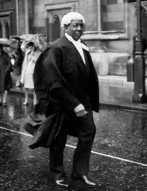 Cricketer and lawyer Sir Learie Constantine (1902 - 1971) en route to the House of Lords