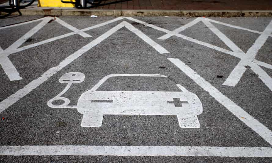 an electric car charging point