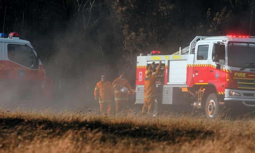Firefighters in Tasmania