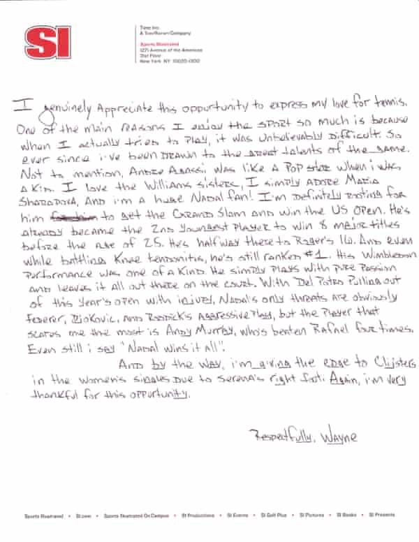 Lil Wayne's letter