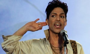 Prince performs at the Hop Farm festival, near Paddock Wood, southern England, in 2011.