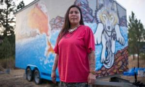 Kanahus Manuel, an activist from the Tiny House Warriors