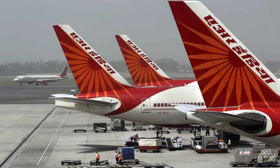 air india planes on the tarmac in new delhi