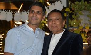 Dr Minesh Talati with his father Navin Talati.