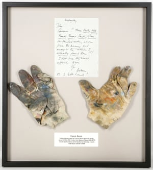 Francis Bacon's painting gloves, used by the artist in his studio at the Royal College of Art, are headed to auction.