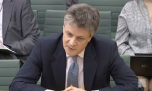 Lord Hill giving evidence to the Commons Treasury committee