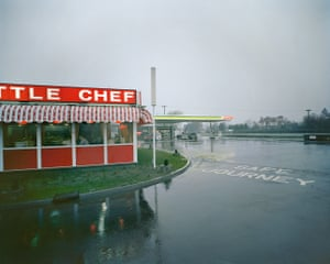 Little Chef in Rain, St. Neots, Cambridgeshire, May, 1982