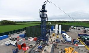 Cuadrilla hydraulic fracturing site at Preston New Road shale gas exploration site in Lancashire.