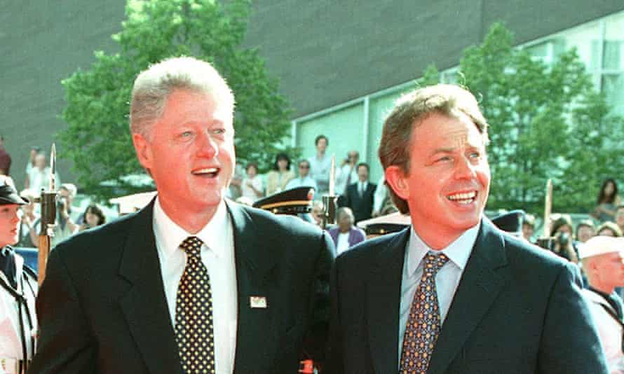 Bill Clinton, left, told Tony Blair in phone calls from 1997 to 2000 that he was under pressure to act against Saddam Hussein.