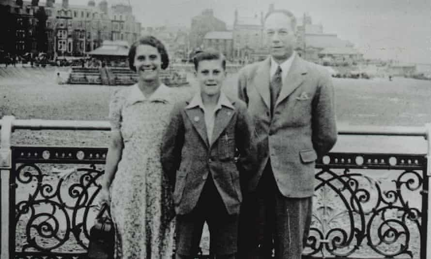 Norman Foster with his parents as a teenager.