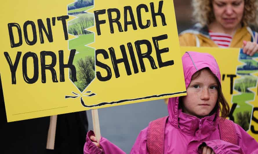 Fracking protestor