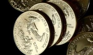 Gold U.S. dollar bullion coins.