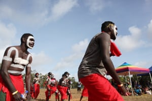 Different Yolngu clans from across Arnhem Land attend Garma festival, many of them performing their own dances at the evening bunggul.