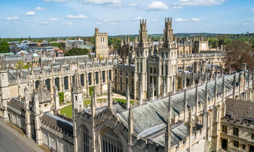All Souls College, Oxford, one of the colleges that invested in fossil fuels.