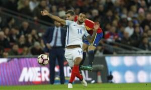 Inigo Martinez fouls Theo Walcott and earns himself a yellow.