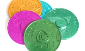 Alcoholics Anonymous tokens, which are given to group members to represent the amount of time they have stayed sober