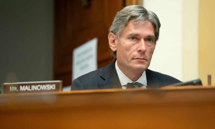 United States Representative Tom Malinowski (Democrat of New Jersey), speaks during a hearing in Washington. The hearing is investigating the firing of Steve Linick.