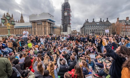 A climate change protest in London, March 2019.