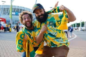 Aussie fans before the match.