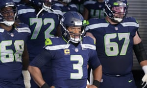 Russell Wilson waits in the tunnel before the Seattle Seahawks' game against the Dallas Cowboys on Sunday.