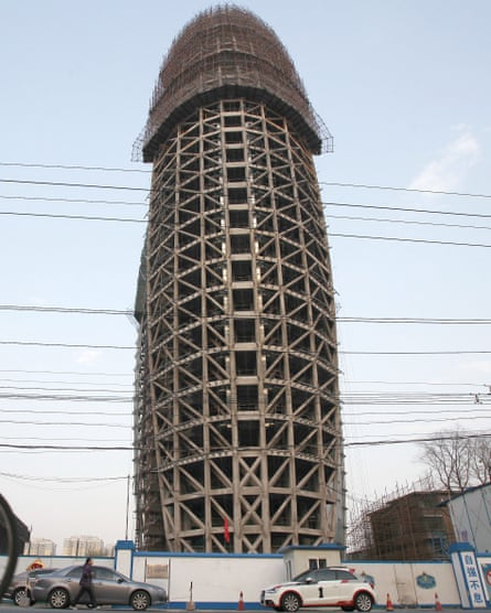 Masculine monument … the office building of the People's Daily newspaper, Beijing, which was mocked for its phallic appearance.