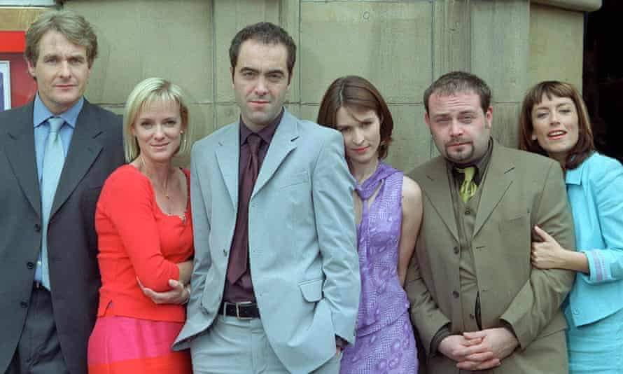 The original cast, with Helen Baxendale third from right.