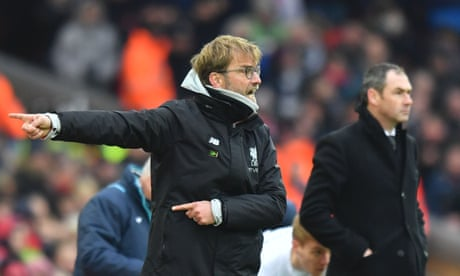 Jürgen Klopp rues defending after Swansea beat Liverpool at Anfield – video