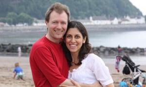 Nazanin Zaghari-Ratcliffe with her husband Richard Ratcliffe. She was jailed in 2016.