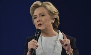 Hillary Clinton makes a point