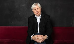 """Jonathan Coe, photographed in London's Finborough Theatre."""