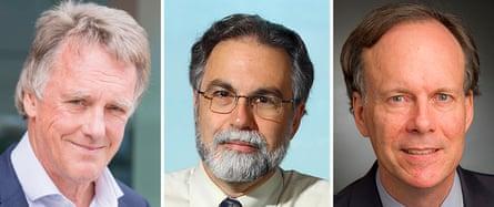 L-R: Sir Peter Ratcliffe, Gregg Semenza and William Kaelin