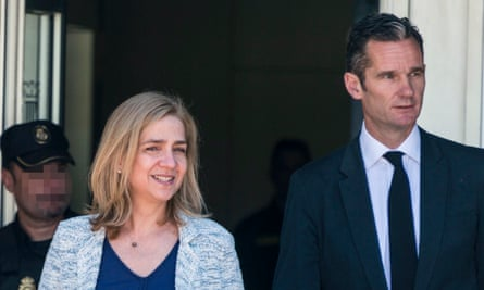 Princess Cristina, the sister of the Spanish king, and her husband Inaki Urdangarin, outside a court in Mallorca in June 2016.