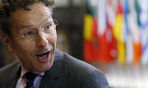 The Dutch finance minister, Jeroen Dijsselbloem