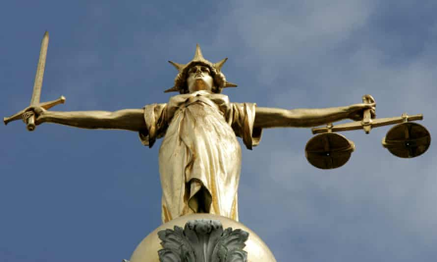 The Statue of Justice on top of the Old Bailey in London