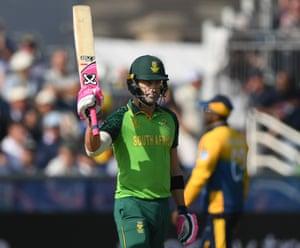 Du Plessis celebrates his half century.