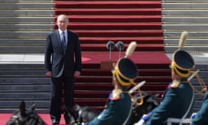 Vladimir Putin reviews the presidential guard during his inauguration last week. His model of extreme popularity, combined with anti-democratic authoritarianism, is being replicated around the world. Will digital technology further neutralise dissent and debate?