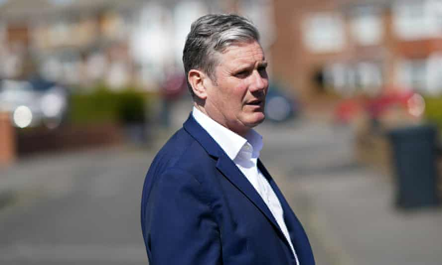 Keir Starmer campaigning in Hartlepool.