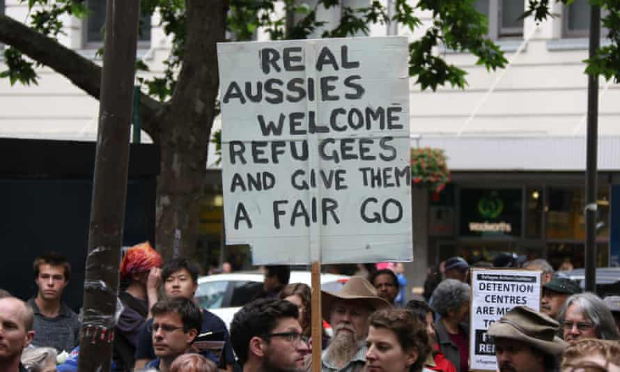 'The message, 'real Australians say welcome', places emphasis on the Australian mythology of the 'fair go'.'