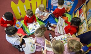'Under-representation has been an issue for a very long time' … children reading at school.