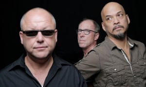 The Pixies: from left, Black Francis, David Lovering, Joey Santiago.