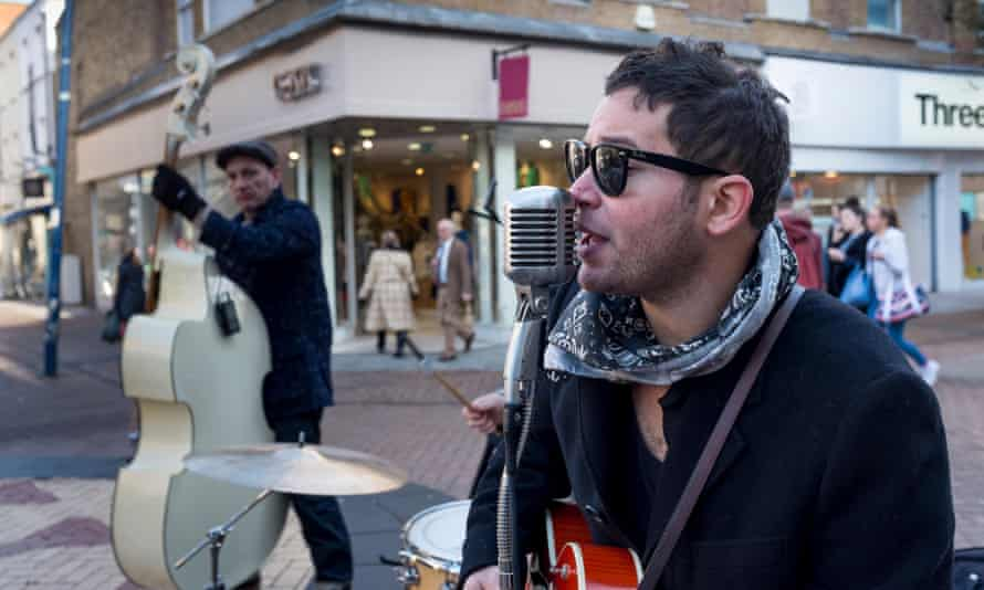 Buskers in Kingston upon Thames – the town is facing a drought of live music venues.