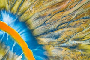 Highly commended, natural artistry Toxic design by Gheorghe Popa, Romania A detail of a small river in the Geamana Valley, within Romania's Apuseni Mountains