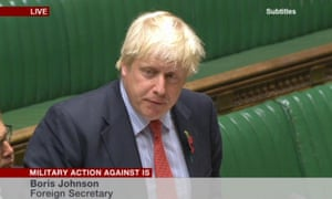 Boris Johnson in the Commons.