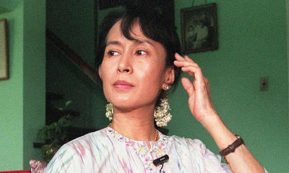Myanmar's leading democracy activist Aung San Suu Kyi, August 1998.
