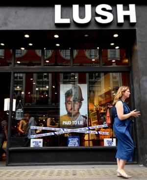 Lush's 'spy cop' campaign, Oxford Street