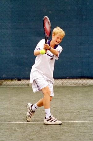 1999: Andy Murray practises at Craiglockhart Tennis Centre in Edinburgh