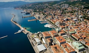 The harbour of Rijeka, Croatia's third-largest city.
