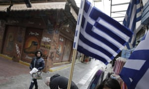 Greek flags fly Athens