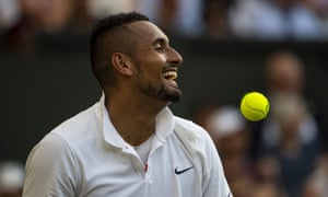 Nick Kyrgios starred, unknowingly, in the TikTok mashup of the Championships, alongside the musical stylings of 10CC's Dreadlock Holiday.