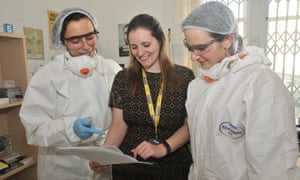 Addaction's director of pharmacy Roz Gittins with colleagues